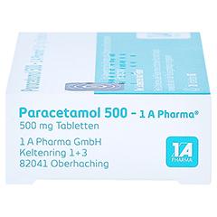 Paracetamol 500-1A Pharma 20 Stück N2 - Rechte Seite