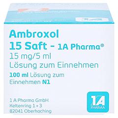 Ambroxol 15 Saft-1A Pharma 100 Milliliter N1 - Unterseite