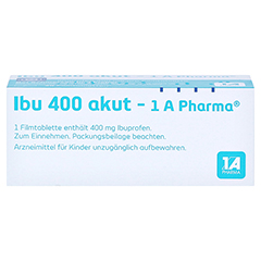 Ibu 400 akut-1A Pharma 20 Stück - Unterseite