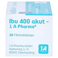 Ibu 400 akut-1A Pharma 20 Stück - Rechte Seite