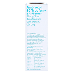 Ambroxol 30 Tropfen-1A Pharma 50 Milliliter N2 - Linke Seite