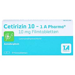 Cetirizin 10-1A Pharma 7 Stück - Vorderseite