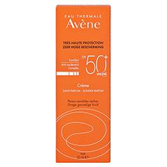 Avène Sunsitive Sonnencreme SPF 50+ ohne Duftstoffe 50 Milliliter - Rückseite