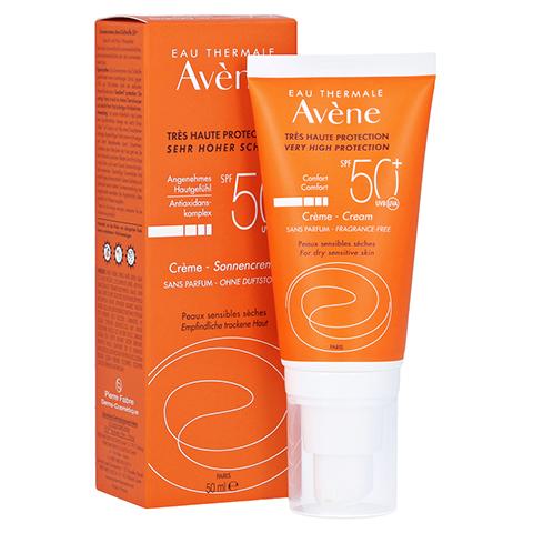 Avène Sunsitive Sonnencreme SPF 50+ ohne Duftstoffe 50 Milliliter
