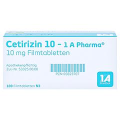 Cetirizin 10-1A Pharma 100 Stück N3 - Oberseite