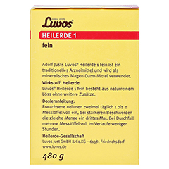 LUVOS Heilerde 1 fein 480 Gramm - Rückseite