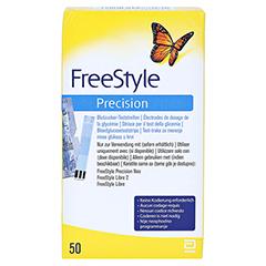 Freestyle Precision Blutzucker Teststreifen ohne Codieren 50 Stück - Vorderseite