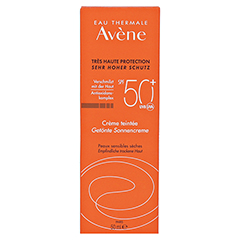 Avène Sunsitive Sonnencreme SPF 50+ getönt 50 Milliliter - Vorderseite