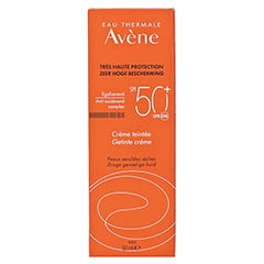 Avène Sunsitive Sonnencreme SPF 50+ getönt 50 Milliliter - Rückseite