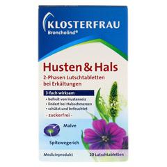 KLOSTERFRAU Broncholind Husten & Hals 2-Phas.Lut. 20 Stück - Vorderseite