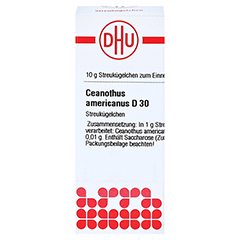 CEANOTHUS AMERICANUS D 30 Globuli 10 Gramm N1 - Vorderseite