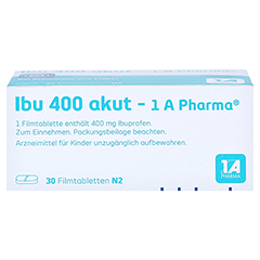 Ibu 400 akut-1A Pharma 30 Stück N2 - Unterseite