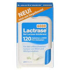 Lactrase 6.000 FCC Tabletten im Klickspender Doppelpack 2x120 Stück - Vorderseite