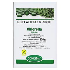 CHLORELLA MIKROALGEN 400 mg Sanatur Tabletten 750 Stück - Vorderseite