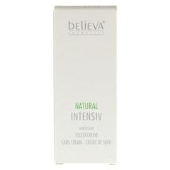BELIEVA Natural Intensiv Creme 50 Milliliter - Vorderseite