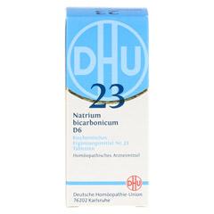 BIOCHEMIE DHU 23 Natrium bicarbonicum D 6 Tabl. 80 Stück - Vorderseite