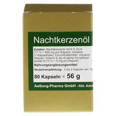 NACHTKERZENÖL 500 mg pro Kapsel 80 Stück - Vorderseite