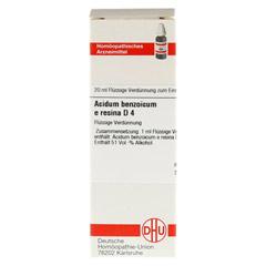 ACIDUM BENZOICUM E Resina D 4 Dilution 20 Milliliter N1 - Vorderseite