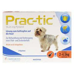 PRAC tic f.sehr kl.Hunde 2-4,5 kg Einzeldosispip. 3 Stück - Vorderseite