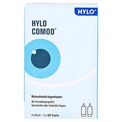 HYLO-COMOD Augentropfen 2x10 Milliliter - Vorderseite