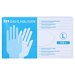 VINYL Handschuhe ungepudert Gr.L 100 Stück - Vorderseite