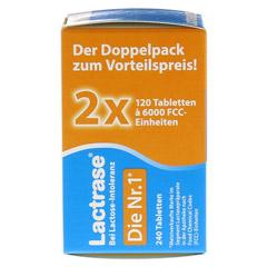 Lactrase 6.000 FCC Tabletten im Klickspender Doppelpack 2x120 Stück - Linke Seite