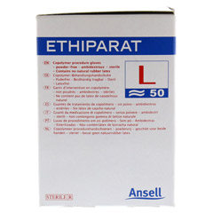 ETHIPARAT Untersuch.Handsch.ster.groß M3370 100 Stück - Linke Seite