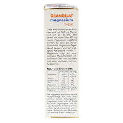 MAGNESIUM FORTE Grandel 300 mg Kautabletten 10 Stück - Linke Seite