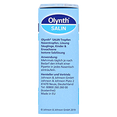 Olynth Salin Nasentropfen 10 Milliliter - Linke Seite