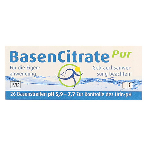 Basencitrate Pur Teststreifen ph 5,9-7,7 26 Stück