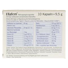 ELLAFEM Kapseln 10 Stück - Rückseite