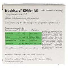 TROPHICARD Köhler NE Tabletten 100 Stück - Rückseite