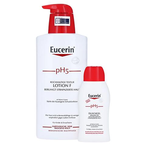 EUCERIN pH5 Lotion F m.Pumpe empfindliche Haut + gratis Eucerin Duschgel 400 Milliliter