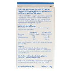 Lactrase 6.000 FCC Tabletten im Klickspender Doppelpack 2x120 Stück - Rückseite