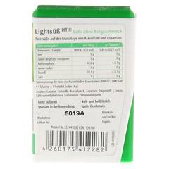 LIGHTSÜSS HT Tabletten 180 Stück - Rückseite