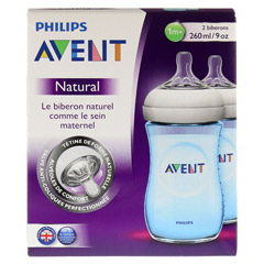 AVENT Flasche 260 ml Naturnah blau 2 Stück - Rückseite