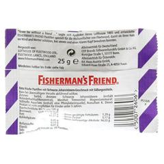 FISHERMANS FRIEND Cassis ohne Zucker Pastillen 25 Gramm - Rückseite