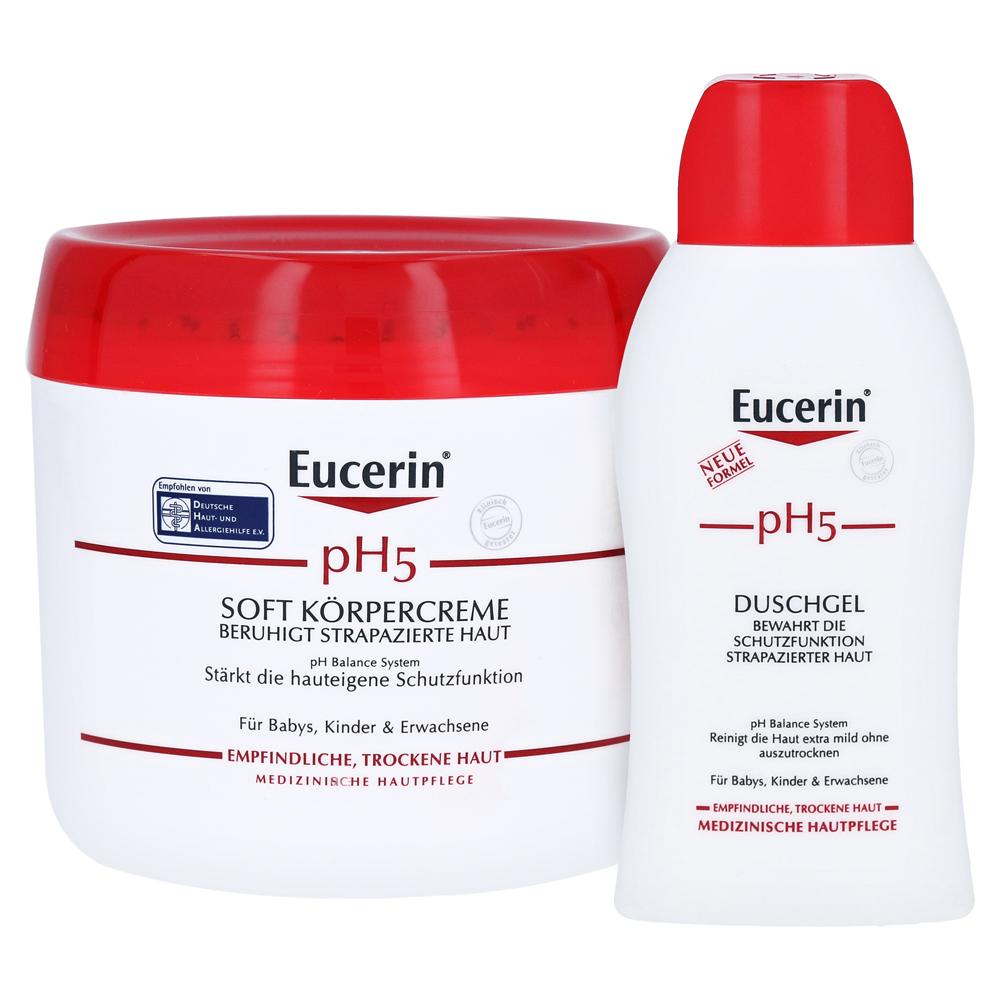 EUCERIN pH5 Soft Körpercreme empfindliche Haut + gratis Eucerin ...