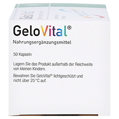 GELOVITAL Nahrungsergänzungsmittel Lebertran Kaps. 50 Stück - Linke Seite