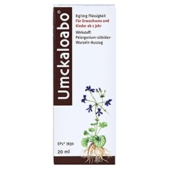 Umckaloabo 20 Milliliter - Vorderseite