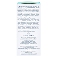 DUCRAY HIDROSIS CONTROL Roll-on Anti-Transpirant 40 Milliliter - Linke Seite