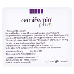 REMIFEMIN plus Filmtabletten 100 Stück N3 - Rückseite