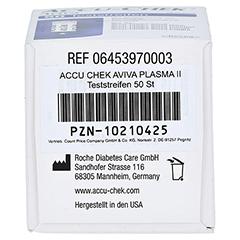 ACCU CHEK Aviva Teststreifen Plasma II CPC 1x50 Stück - Unterseite