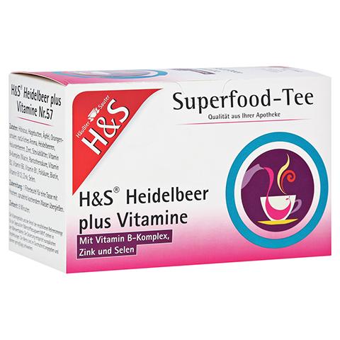 H&S Heidelbeer plus Vitamine Filterbeutel 20x2.5 Gramm