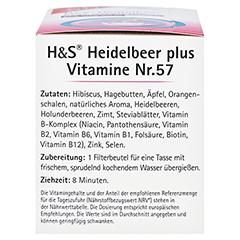 H&S Heidelbeer plus Vitamine Filterbeutel 20x2.5 Gramm - Linke Seite