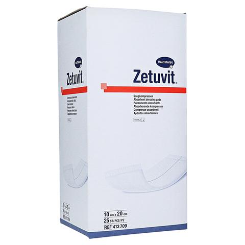 ZETUVIT Saugkompressen steril 10x20 cm 25 Stück
