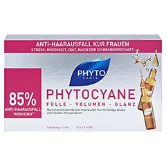 PHYTOCYANE Anti-Haarausfall Kur Ampullen 12x7.5 Milliliter - Vorderseite
