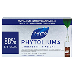 PHYTOLIUM 4 Anti-Haarausfall Kur Ampullen 12x3.5 Milliliter - Rückseite