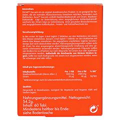 ZUCAR Zuccarin Tabletten 60 Stück - Rückseite