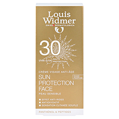 WIDMER Sun Protection Face Creme 30 unparfümiert 50 Milliliter - Rückseite
